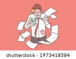 tiredness  stress  burnout... | Shutterstock .eps vector #1973418584