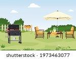 patio area flat vector... | Shutterstock .eps vector #1973463077