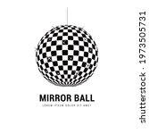 mirror ball  abstract sphere... | Shutterstock .eps vector #1973505731