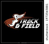 track and field insignia  track ... | Shutterstock .eps vector #1973565881