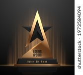 black and gold  award template | Shutterstock .eps vector #1973584094