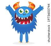 happy cartoon monster....   Shutterstock .eps vector #1973603744