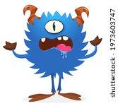 happy cartoon monster....   Shutterstock .eps vector #1973603747