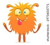 happy cartoon monster....   Shutterstock .eps vector #1973603771
