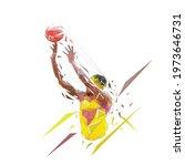basketball player shooting ball ... | Shutterstock .eps vector #1973646731
