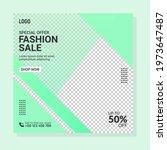 fashion sale banner template... | Shutterstock .eps vector #1973647487