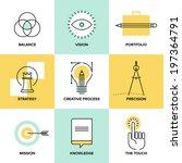 creative design process concept ... | Shutterstock .eps vector #197364791