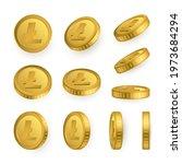 ltc. litecoin gold coins set... | Shutterstock .eps vector #1973684294