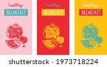 healthy breakfast poster set... | Shutterstock .eps vector #1973718224