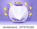 fun giveaway birthyday podium... | Shutterstock .eps vector #1973752184