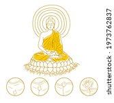 god of  buddhism  concept...   Shutterstock .eps vector #1973762837