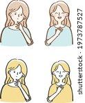 annoyed  pleased  female set...   Shutterstock .eps vector #1973787527