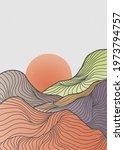 landscape background with line... | Shutterstock .eps vector #1973794757