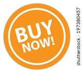 orange circle buy now  icon... | Shutterstock . vector #197380457