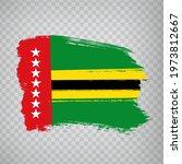 flag of santander from brush...