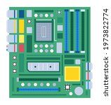 computer motherboard isolated...   Shutterstock .eps vector #1973822774