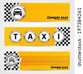 cool taxi company banner set of ... | Shutterstock .eps vector #197384261