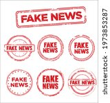 fake news collection of grunge...   Shutterstock . vector #1973853287