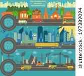 set of modern city elements for ... | Shutterstock .eps vector #197389094