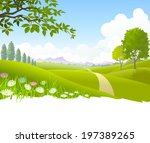 an illustration of heavenly... | Shutterstock .eps vector #197389265