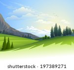 an illustration of lush green... | Shutterstock .eps vector #197389271
