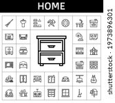 Home Icon Set. Line Icon Style. ...