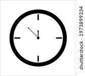 clock icon in trendy flat style ...