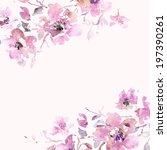floral background. sakura.... | Shutterstock .eps vector #197390261