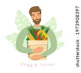 young man holding natural... | Shutterstock .eps vector #1973908397