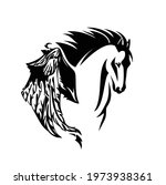pegasus winged horse head...   Shutterstock .eps vector #1973938361
