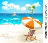 summer beach | Shutterstock .eps vector #197399654