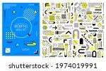 mega memphis set of abstract...   Shutterstock .eps vector #1974019991