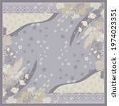 abstract scarf pattern with... | Shutterstock .eps vector #1974023351