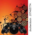grunge music srtyle. vector... | Shutterstock .eps vector #197405774