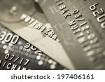 credit card background by macro ... | Shutterstock . vector #197406161