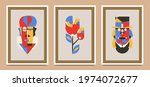 collection of wall design... | Shutterstock .eps vector #1974072677