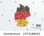 germany map and flag. a large...   Shutterstock .eps vector #1974188651