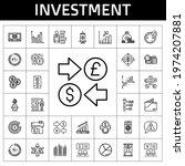 investment icon set. line icon...