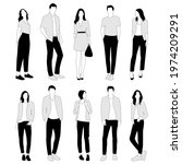 vector silhouettes of  men and... | Shutterstock .eps vector #1974209291