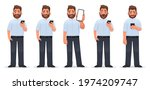 set of character of a man with... | Shutterstock .eps vector #1974209747