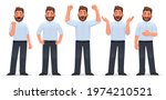 set of character happy man. the ...   Shutterstock .eps vector #1974210521