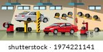 automobile repair and... | Shutterstock .eps vector #1974221141