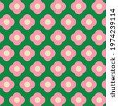 pink  green flower power retro...   Shutterstock .eps vector #1974239114