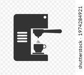 transparent espresso coffee...