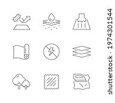 set line icons of fabric   Shutterstock .eps vector #1974301544