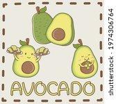 avocado the best fruit in the...   Shutterstock .eps vector #1974306764