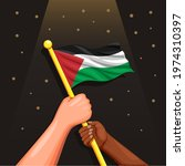 two people in diversity race... | Shutterstock .eps vector #1974310397