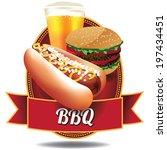 Barbecue Hot Dog And Burger...