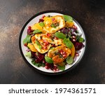 Fried Halloumi Cheese Salad...