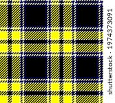 neon yellow and black tartan....   Shutterstock .eps vector #1974373091